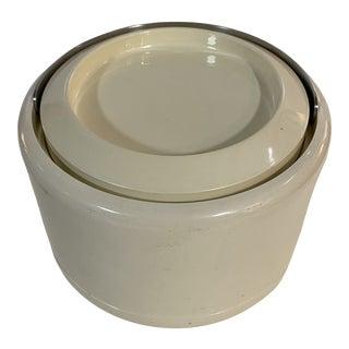 1960s Stelton Minimalist Off White Ice Bucket For Sale