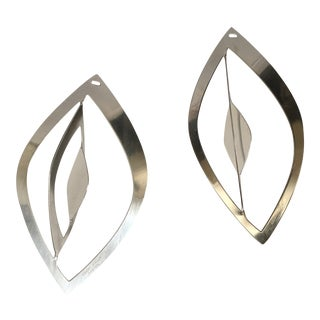 Contemporary Georg Jensen Stainless Steel Holiday Ornaments - a Pairs For Sale