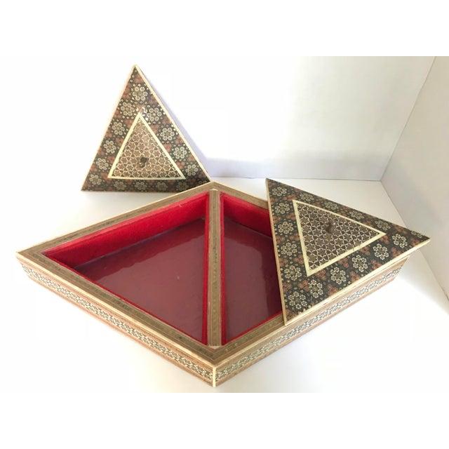 Islamic Khatam Kari Double Lidded Box For Sale - Image 3 of 5