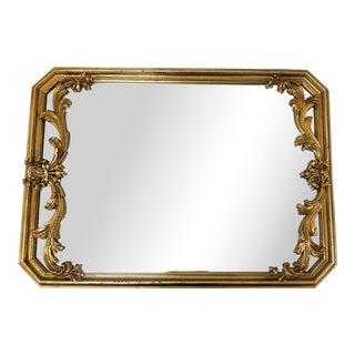 1980s Baroque Carolina Mirror Company Octagonal Mirror For Sale