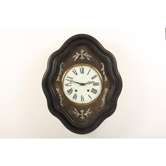 19th-C. French Napoleon III Wall Clock For Sale In Nashville - Image 6 of 6