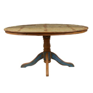 Reclaimed Wood Distressed Large Round Dining Table