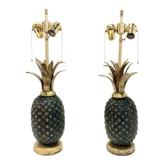 Mid-Century Pepe Mendoza Pineapple Lamps - A Pair For Sale