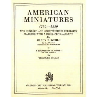 "1937 ""American Miniatures 1730 - 1850"" Coffee Table Book Preview"