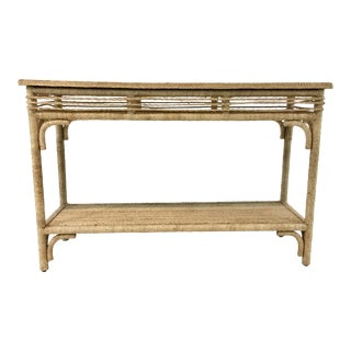 Currey & Co. Olisa Rope Console Table For Sale