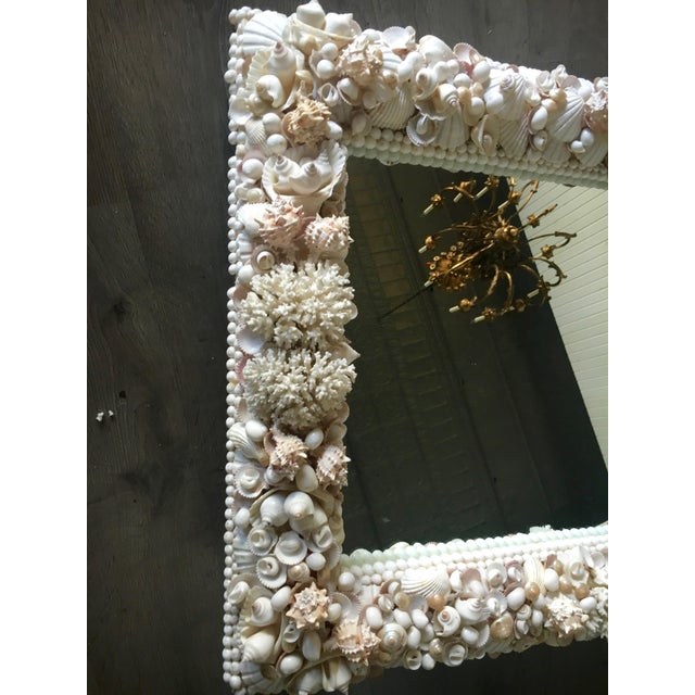 Mid-Century Modern Exceptional Grotto Mirror, Great Attention Paid to Detail From a Promenate Florida Estate. For Sale - Image 3 of 11