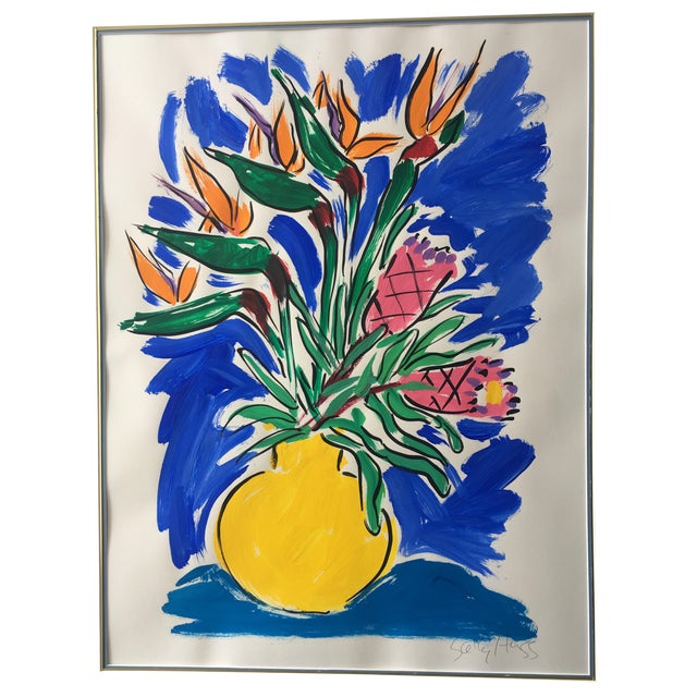 Original Floral Still Life Painting For Sale