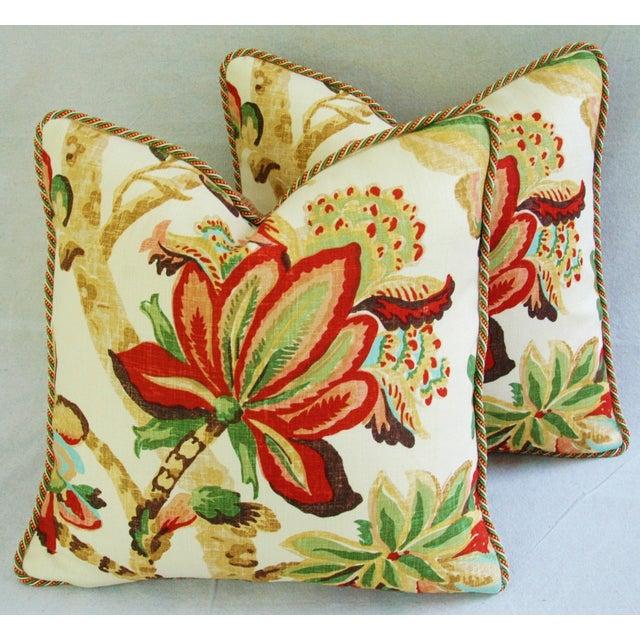 Custom Schumacher Kelmscott Manor Pillows - A Pair - Image 7 of 11
