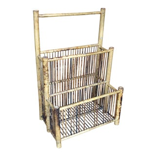 Antique Bamboo Magazine Holder