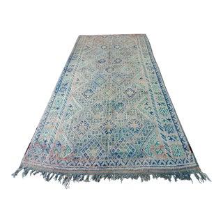 "Vintage Moroccan Boujad Boujad Rug Carpet Berber - 11'5"" x 6'3"""