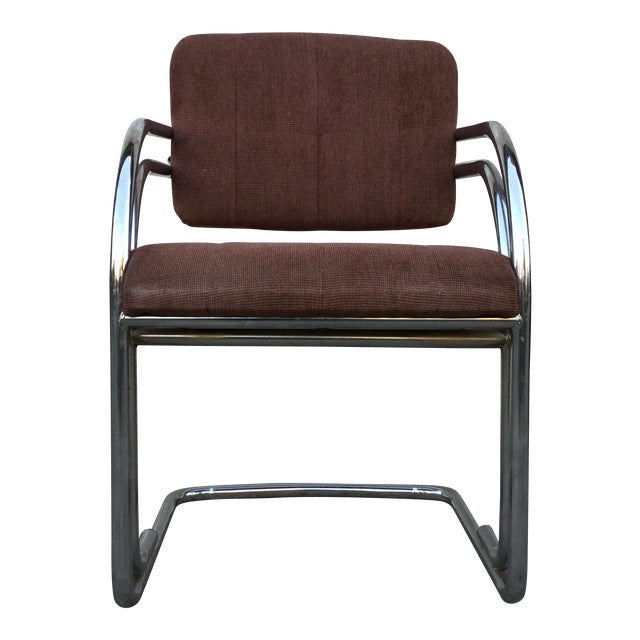 Set of Four Milo Baughman Chrome Dining Chairs - Image 1 of 5