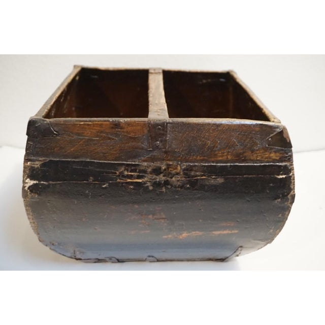 Asian Antique Lacquered Chinese Rice Bucket For Sale - Image 3 of 9