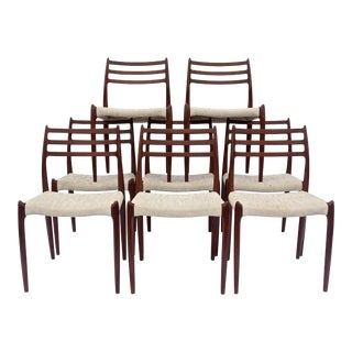 Set of Eight Niels O Moller Model 78 Dining Chairs, Denmark, 1960s For Sale