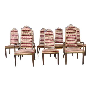 1960s Vintage Mid-Century Modern Montiverde Young Dining Chairs - Set of 8 For Sale