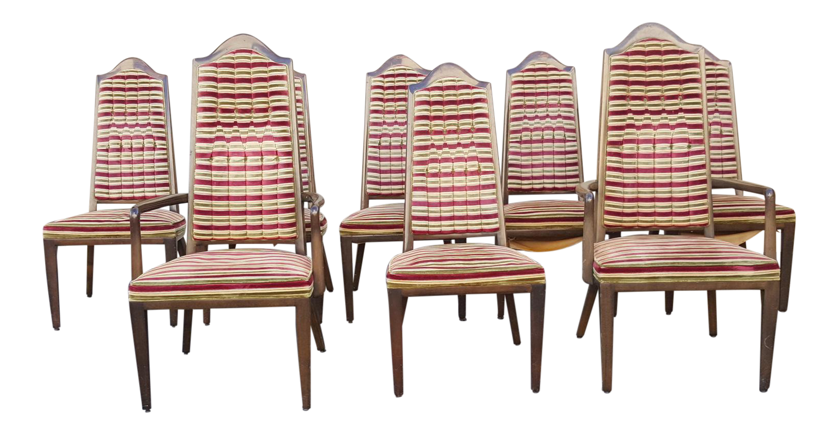 1960s Vintage Mid Century Modern Montiverde Young Dining Chairs Set Of 8