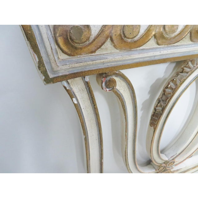 Gold Italian Carved Cream King Headboard For Sale - Image 8 of 11