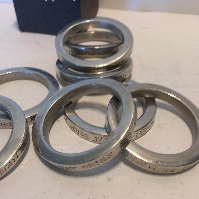Vintage Vilmain + Klinger USA Napkin Rings - Set of 8 For Sale - Image 10 of 10