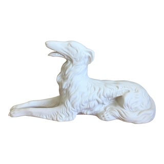 Vintage Bisque Porcelain Greyhound/Whippet For Sale