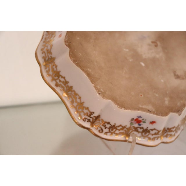 Gold 18th Century Gilded Collectible Antique Porcelain Plate Meissen, 1720s For Sale - Image 8 of 10