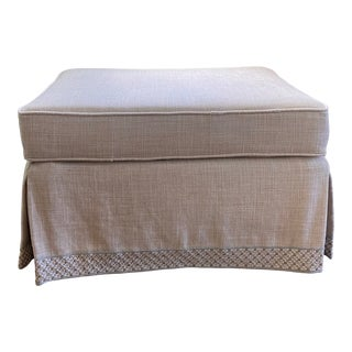Contemporary Beige Skirted Ottoman