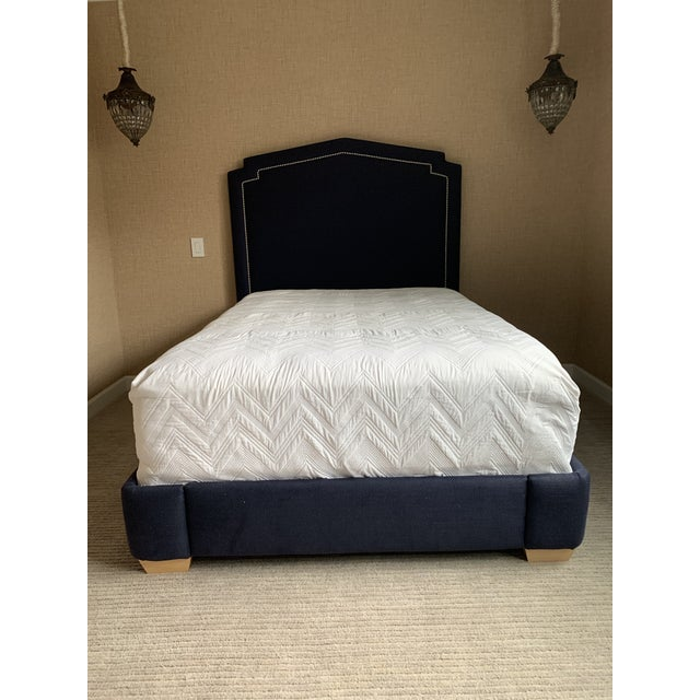 Serena and Lilly Full Size Upholstered Bed For Sale - Image 10 of 10