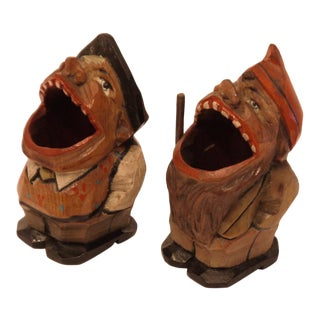 Rare Vintage Anri Toothpick Holders - a Pair For Sale