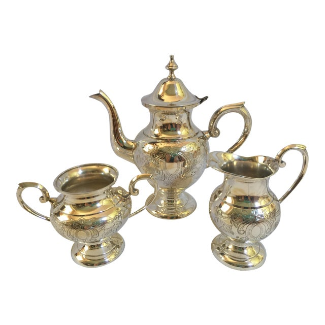 English Silverplate Coffee Service - Set of 3 - Image 1 of 6