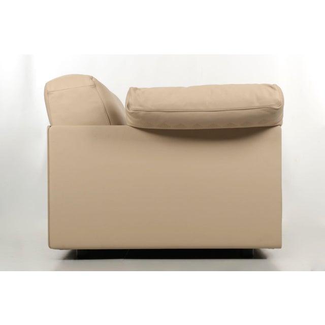 """Poltrona Frau Lievore Altherr Molina for Poltrona Frau """"Cassiopea"""" Leather Sofa For Sale - Image 4 of 11"""