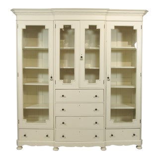 19th Century English Breakfront Cabinet For Sale