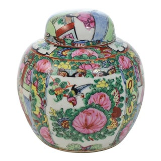 Hand Painted Famille Rose Urn For Sale