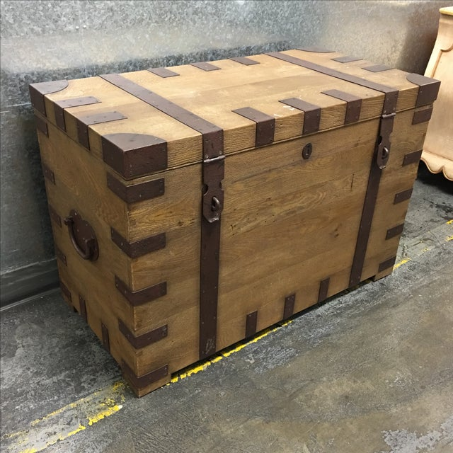 Restoration Hardware Heirloom Silver Trunk - Image 2 of 10