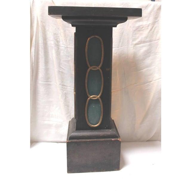 19th Century Masonic Lodge Original Painted Pedestal - Image 3 of 9