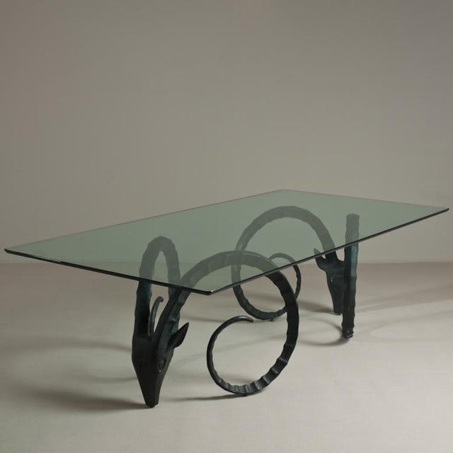 A Large Rams Head Based Dining Table 1970s - Image 2 of 6