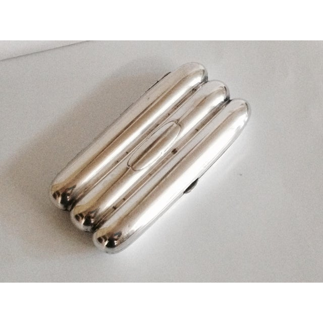 Silver Plated Cigar Case - Image 2 of 4