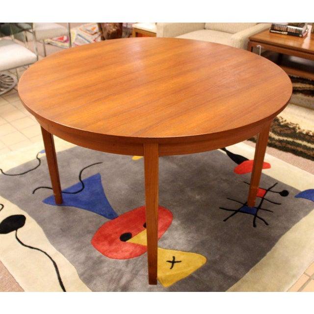 Mid-Century Danish Modern Arne Hovmand Olsen Teak Oval Dining Set For Sale - Image 10 of 13