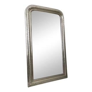 Sophisticated Antique French Louis Philippe Silver Gilt Mirror For Sale