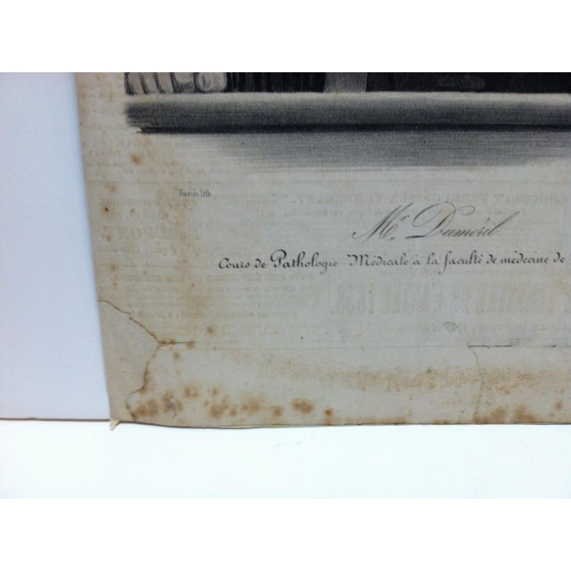 """Vintage French """"Mr. Dumeril"""" Couis De Pathologie Lithograph For Sale - Image 4 of 6"""