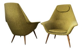 Image of Chartreuse Club Chairs