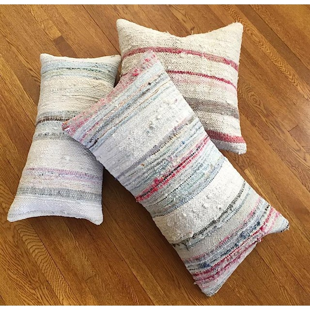 Moroccan Berber Striped Pillow Cover - Image 5 of 10