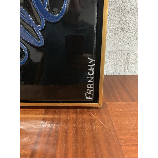 Monumental Art Framed Oil Painting With Resin on Canvas With Love Words by Franchy For Sale - Image 9 of 13
