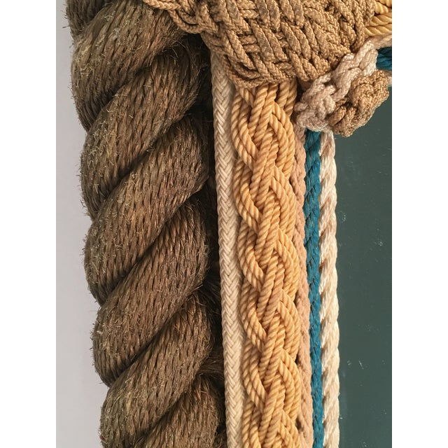 Sailor Made Nautical Ropework Mirror For Sale - Image 10 of 12