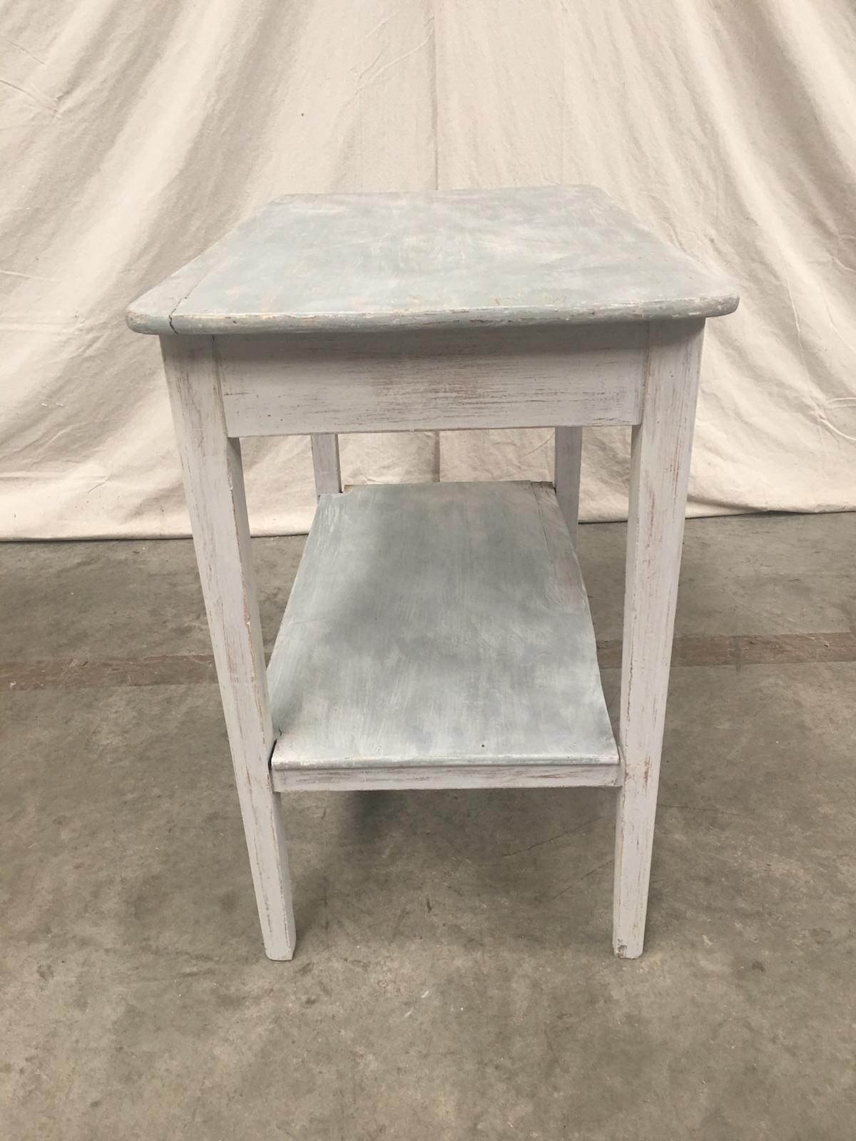 Antique Swedish Painted Side Table   Image 6 Of 9