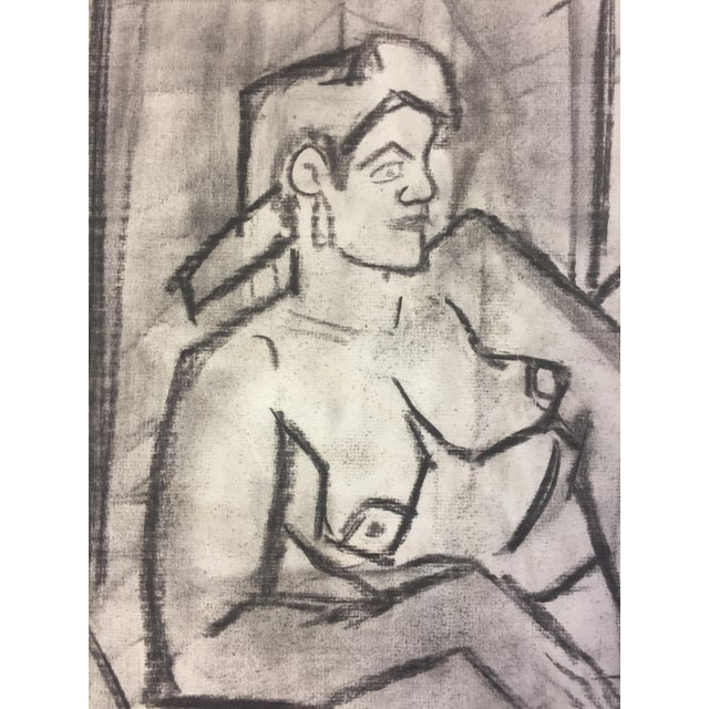 1950s Charcoal Female Lounging For Sale In New York - Image 6 of 7