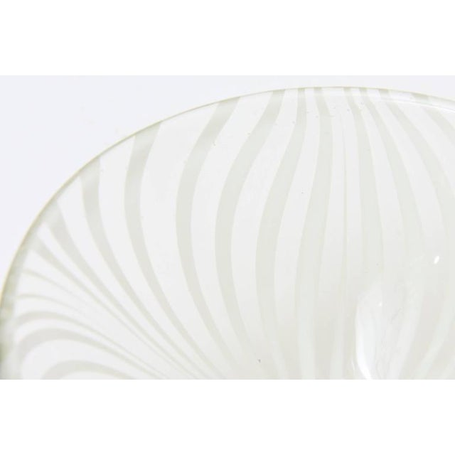 1970s Sculptural Optical Swirled Glass Bowl For Sale - Image 5 of 10