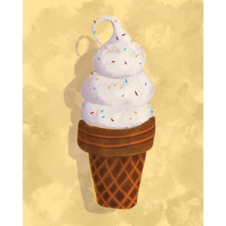 "Modern Wall Art ""Ice Cream 3"", 2018 For Sale"