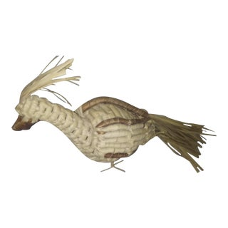 Boho Chic Wicker Bird For Sale
