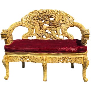 Asian Style Settee For Sale