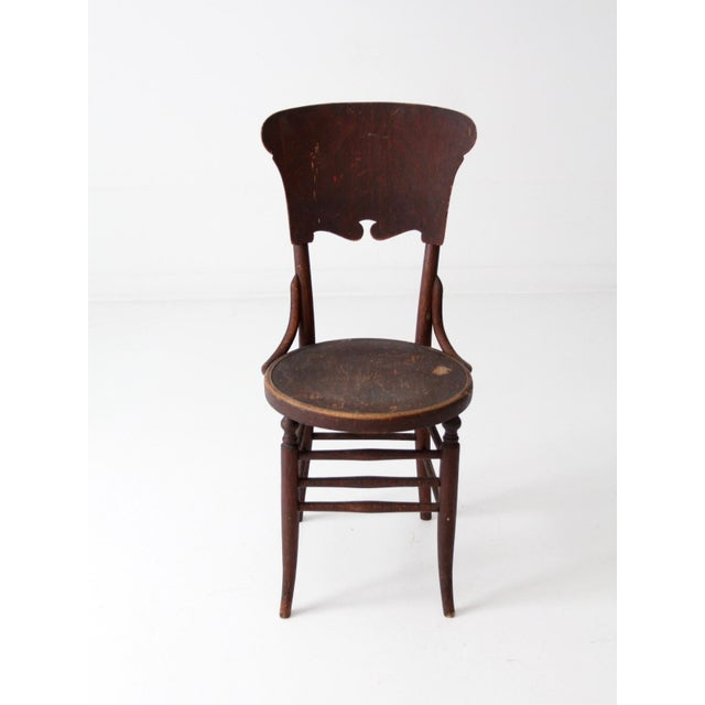 Antique Round Seat Chair For Sale - Image 4 of 8