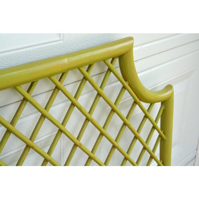 1970s Chinoiserie Twin Rattan Headboards - a Pair For Sale - Image 4 of 9