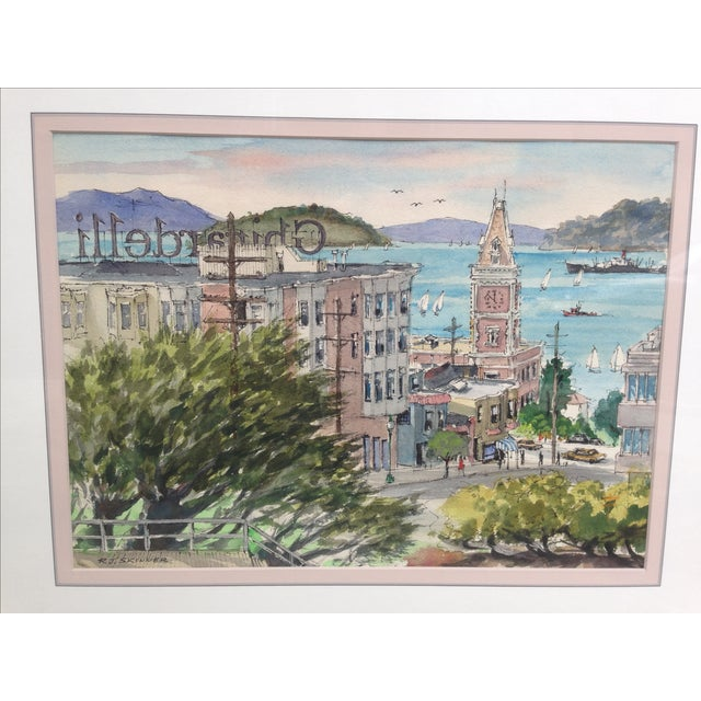 R. J. Skinner San Francisco Watercolor Painting - Image 4 of 4